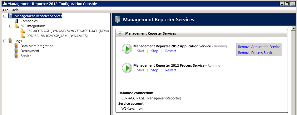Management Reporter Configuration Console